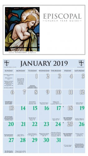 2019 episcopal calendar ashby publishing