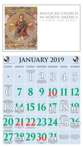 2019 anglican church in north america calendar ashby publishing