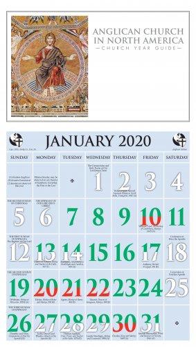 Episcopal Church Calendar 2020 2020 Anglican Church in North America Calendar   Ashby Publishing