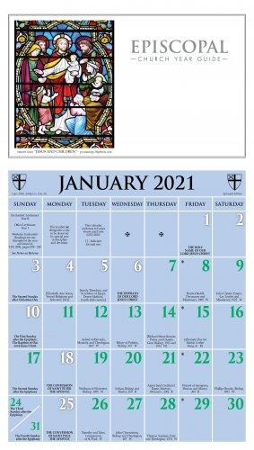 Episcopal Church Calendar 2022.2021 Episcopal Calendar Ashby Publishing