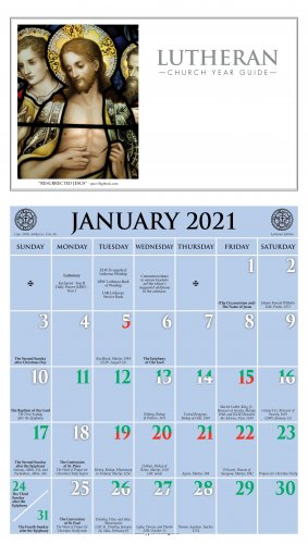 2021 Lutheran Calendar   Ashby Publishing