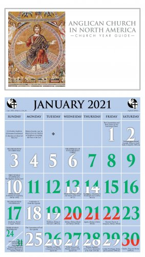 Episcopal Church Calendar 2022.2021 Anglican Church In North America Calendar Ashby Publishing